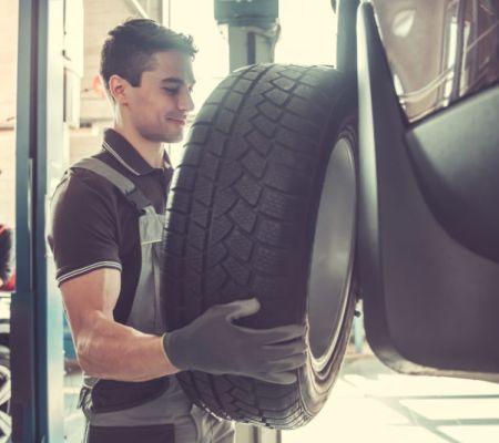 Dienstleistung-Reifenwechsel